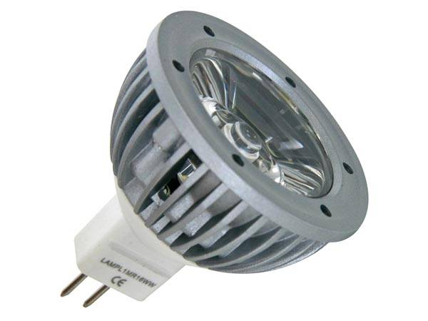 Lampe led 3w - blanc chaud (2700k) 12vca/cc - mr16