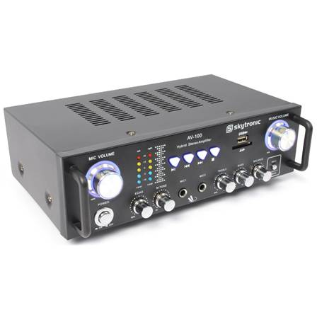 Amplificateur karaoké stéréo MP3 SkyTronic AV100