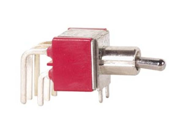 90° horizontal toggle switch dpdt on-off-on (composant électronique)