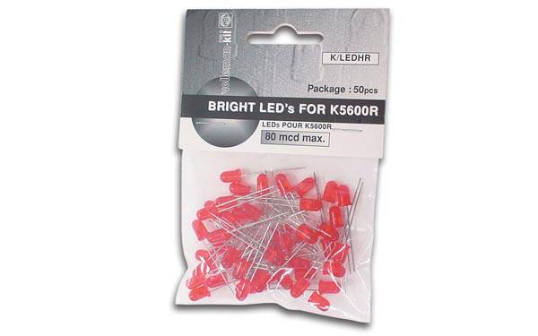 Kit électronique 50 leds rouges (KLEDHR Velleman )