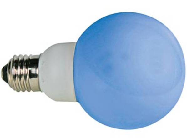 Ampoule led bleue - e27 - 230vca - 20 led