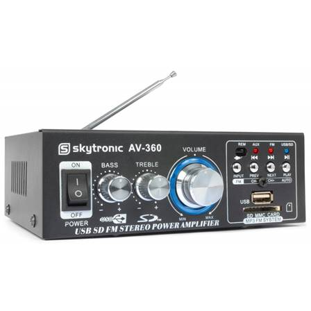 SkyTronic Amplificateur karaoké FM/SD/USB/MP3