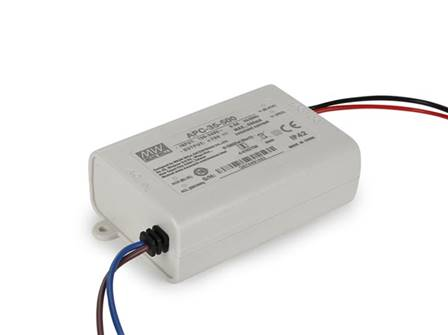 Constant current led driver single output 350 ma 25 w