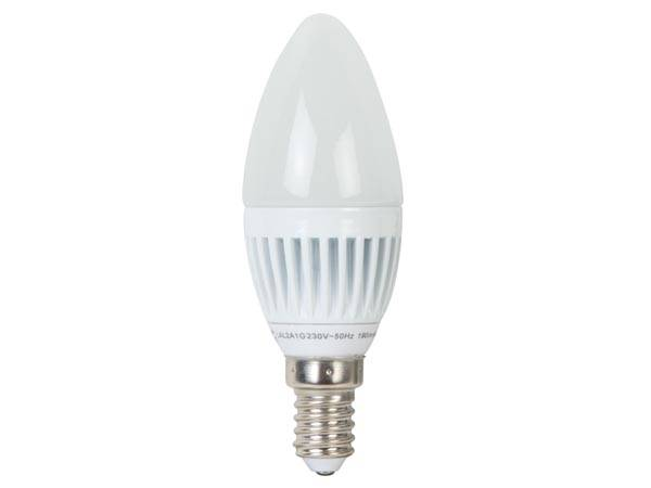Lampe led - bougie - 3 w - e14 - 230 v - blanc neutre