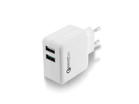 Ewent chargeur usb 2 ports 110 240 vac quick charge 3.0