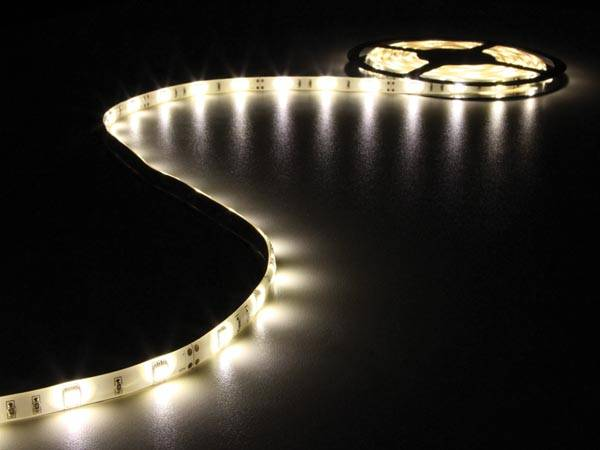 Flexible à led - blanc chaud - 150 leds - 5 m - 12 v
