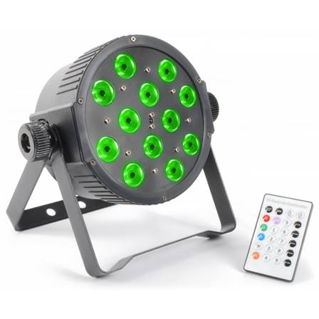 BeamZFlatPAR projecteur 12x LED 3 W Tri-color DMX IR