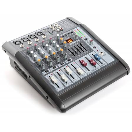 SkyTec STL6A Table de mixage 6 canaux amplifiée SD/USB/MP3/DSP