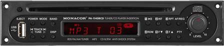 Module Tuner RDS / Lecteur CD avec interface USB Monacor PA-1140RCD