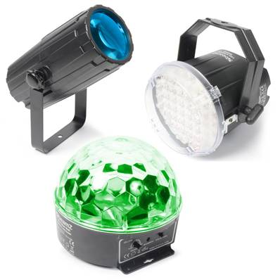 BeamZLight Package 1 - Moonflower, Strobe et Starball