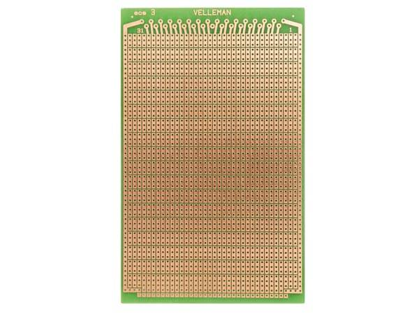 Eurocard pastille 3 trous - 100x160mm - fr4 (1pc/bl)