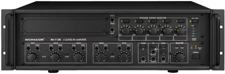 Amplificateur-Mixeur Public Adress 5 zones mono Monacor PA-1120