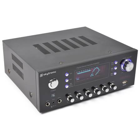 SkyTronic AV-120FM Amplificateur stéréo karaoké MP3
