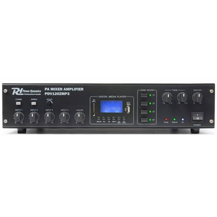 Power Dynamics PDV120ZMP3 Amplificateur PA 4 zones 120 W/100 V