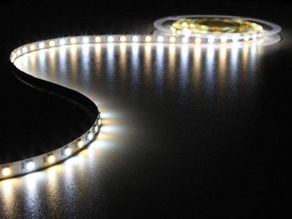 Flexible à led - blanc froid et chaud - 300 leds - 5m - 24v