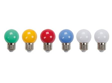 Ampoules led multicolores 10 pcs