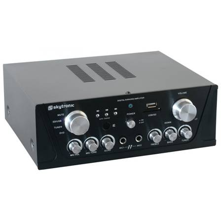 SkyTronic Amplificateur karaoké FM/USB/SD - Noir
