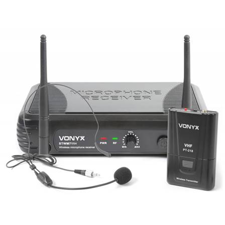 VonyxSTWM711H Système micro serre-tête 1 canal VHF