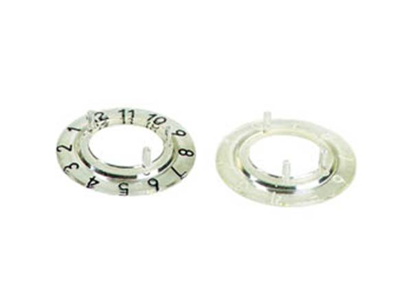 Dial for 15mm button (transparent - black 12 digits)