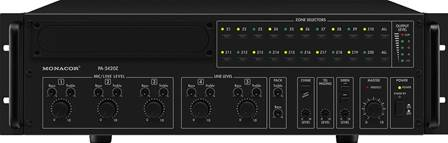 Amplificateur mixeur mono Public Adress 20 zones Monacor PA-2420Z