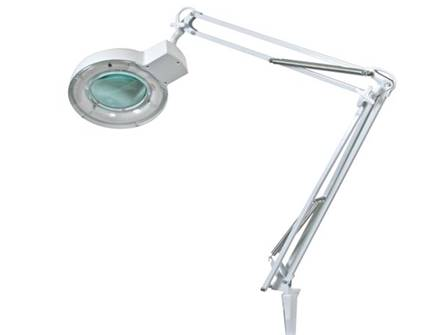 Lampe loupe 5 dioptries 22w blanc