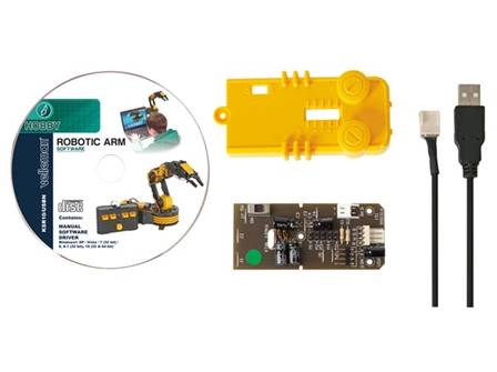 kit Velleman interface usb pour bras robotique ksr10 KSR10/USBN