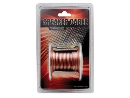 Cable haut-parleur - Transparent - 2 x 1.00mm² - 10m (K/LOW2100/10T)