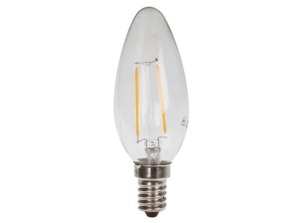 Lampe à incandescence - led - chandelle - e14 - 2 w - 2700 k