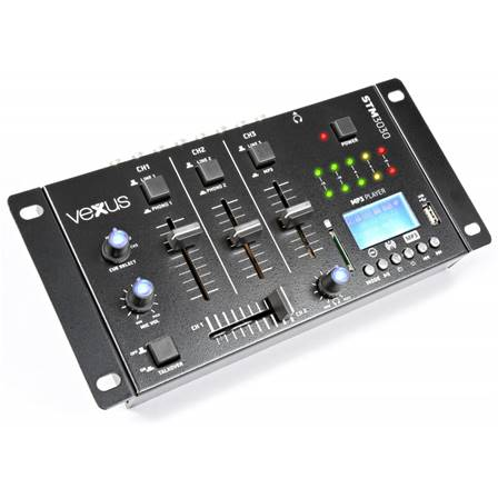 Vexus STM3030 Table de mixage 4 canaux USB/MP3/BT/REC