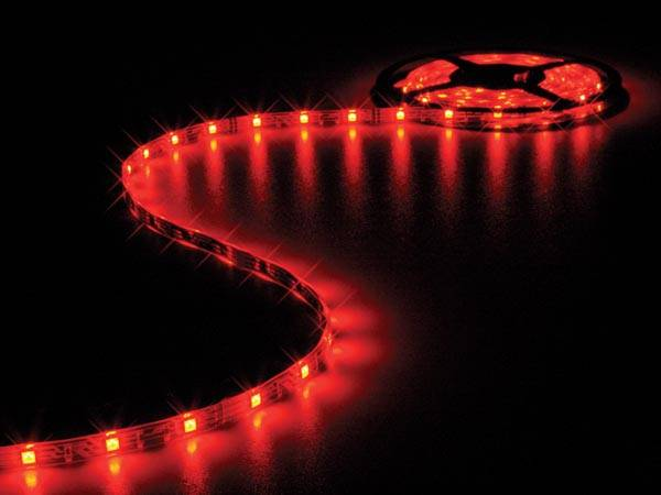 Flexible à led - rouge - 150 led - 5m - 12v