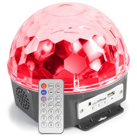 Max Magic Jelly DJ Ball 6x LEDs 1W SD/USB/MP3