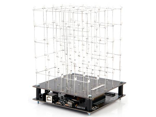 Kit électronique cube à led 3d - 5 x 5 x 5 (led bleue) (K8018B Velleman )