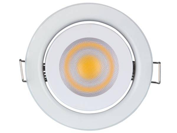 Spot led encastrable 5 w - gu10 - 230 v - blanc chaud