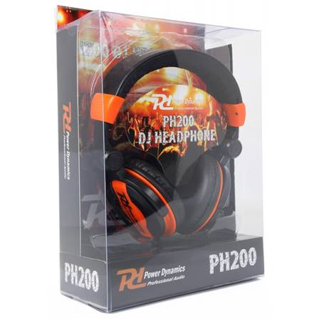 Power Dynamics PH200 Casque DJ orange