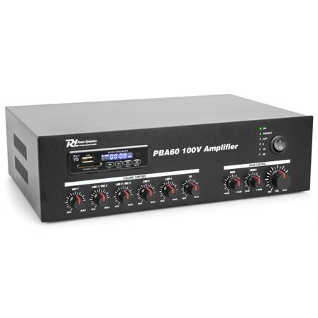 Power Dynamics PBA60 Amplificateur ligne 100 V, 60 W