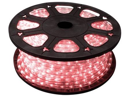 Flexible lumineux à led 45 m rouge