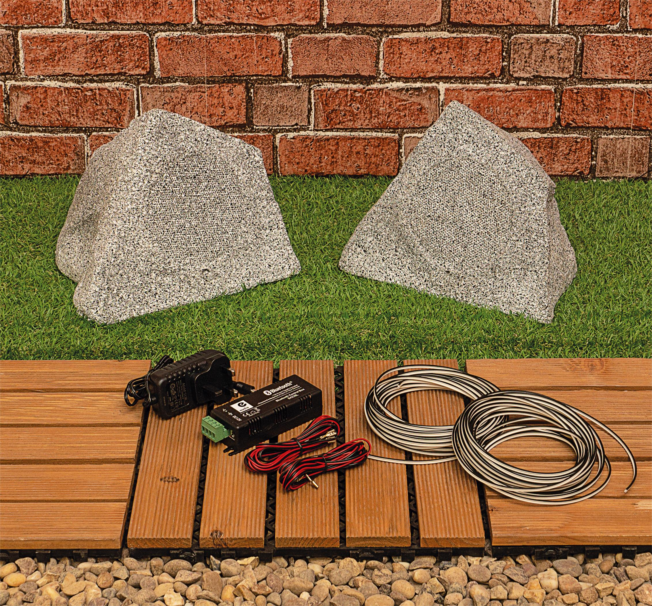 Kit Enceintes de Jardin Eagle Bluetooth grises