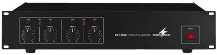 Amplificateur digital 4 canaux Public Adress Monacor PA-1450D