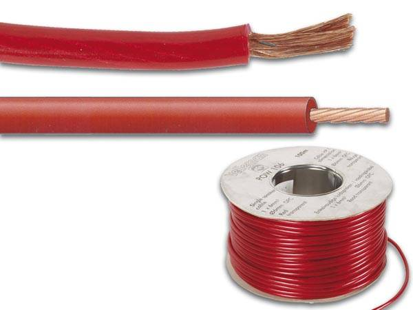 Ofc cable d'alimentation - 6mm² - rouge - 100m
